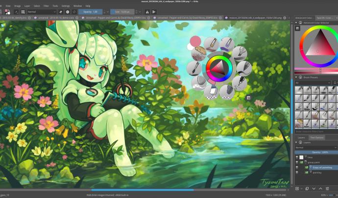 Krita és un programa professional de pintura digital Font: Krita