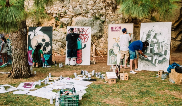 Durant la festa els grafiters i muralistes podran realitzar les seves obres. Font: La iMAGInada