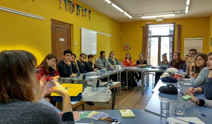 Una sessió del projecte LAB de participació infantil i juvenil de MEG Font: Minyons Escoltes i Guies de Catalunya