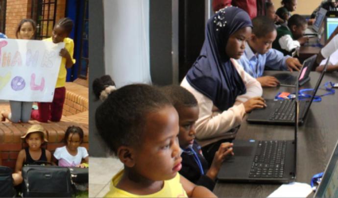 Moltes de les escoles beneficiàries són de l'Àfrica