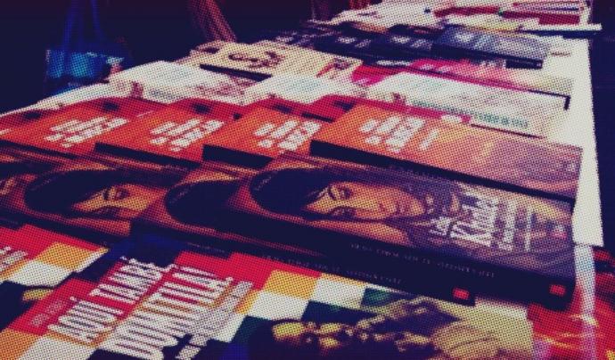 Estand amb llibres a la Fira del Llibre Feminista de Sabadell Font: Fira del Llibre Feminista de Sabadell