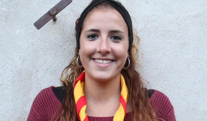 Laia Laborda, membre de l'Àmbit de Participació Infantil i Juvenil de MEG