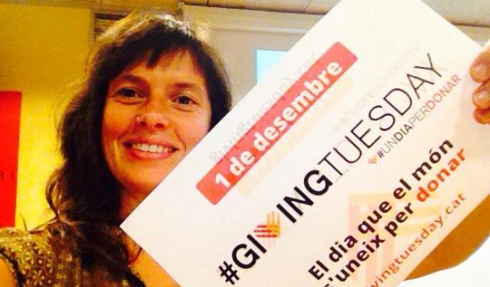 Laia Bernués participant al Giving Tuesday.