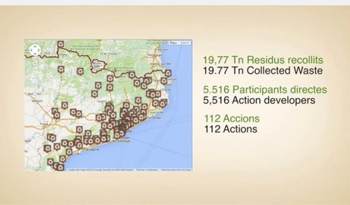 Les accions es recullen al mapa (imatge: http://residus.gencat.cat/)