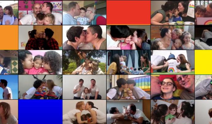 """""""Sempre hi ha una Família Rainbow al teu costat"""", la campanya de les famílies LGTBI per demanar més visibilitat. Font: FLG-Associació de Famílies LGTBI"""