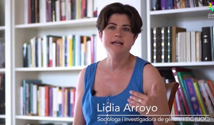 """Lidia Arroyo, sociòloga i investigadora de Gènere i TIC (UOC) al vídeo sobre Internet i Dones de """"Igualtat al fons"""""""