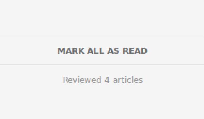 Per indicar que ja hem llegit les actualitzacions mostrades Font: Feedly