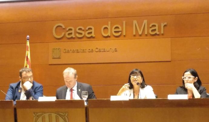 """Corretja explica que """"les directives europees permetran posar l'accent en la qualitat"""". Font: Suport Associatiu. Font: Font: Suport Associatiu."""