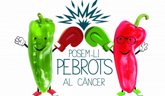 Cartell promocional del 'Posem-li pebrots al càncer!' Font: FECEC