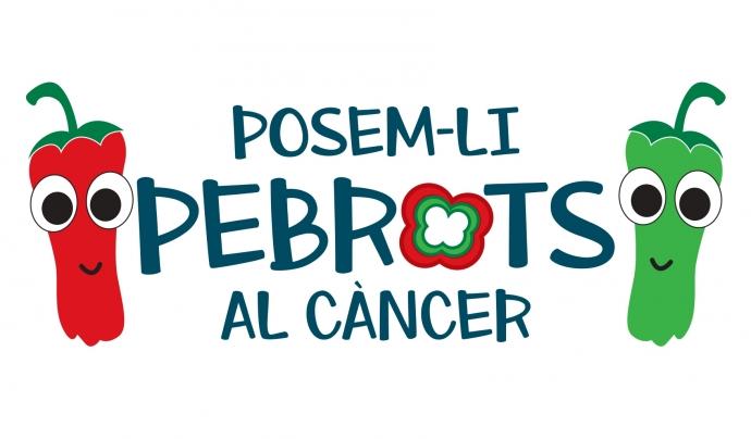 Imatge gràfica de la campanya 'Posem-li pebrots al càncer'. Font: FECEC