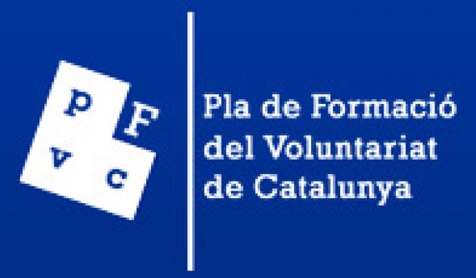 Logo del Pla de Formació del Voluntariat de Catalunya.