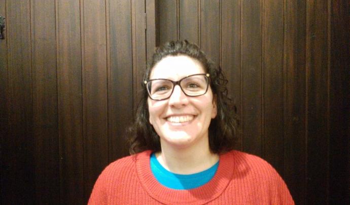 Lucía Delgado, portaveu de la PAH de Barcelona.  Font: PAH Barcelona