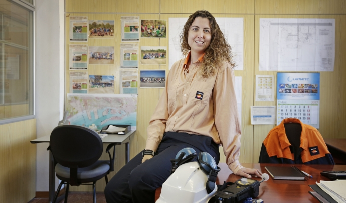 Lucía Pérez-Porro, treballadora de Repsol Tarragona i membre del seu programa de voluntariat. Font: Lucía Pérez-Porro