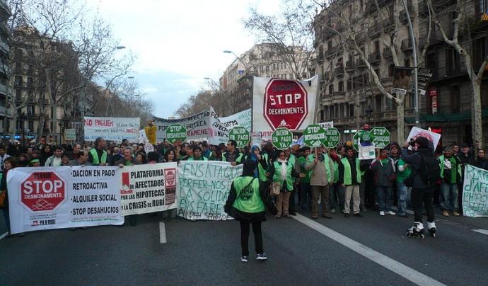 Manifestació de la PAH a Barcelona Font: PAH