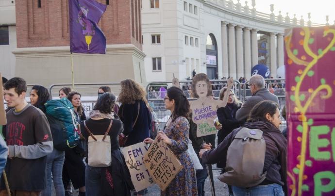 Bloc ecofeminista de la manifestació del 8 de març Font: Paula Puy