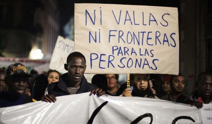 Manifestació a Barcelona pel Dia internacional de les persones migrants  Font: Robert Bonet