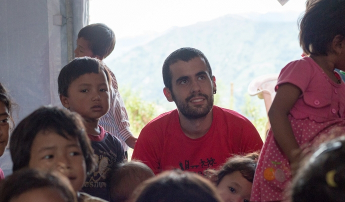 Manuel Sobejanes es dedica a la cooperació internacional des de 2015. Font: Manuel Sobejanes.