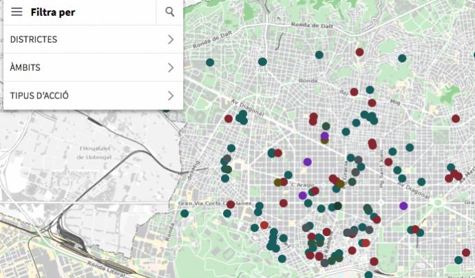 El mapa d'entitats feministes de Barcelona ofereix informació sobre més de 200 entitats i grups feministes i de dones de la ciutat Font: Ajuntament de Barcelona Font: Ajuntament de Barcelona