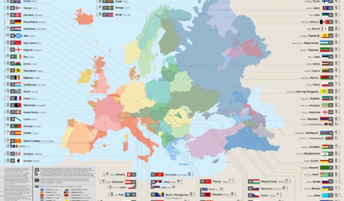 mapa de minories lingüístiques fet pel CIEMEN