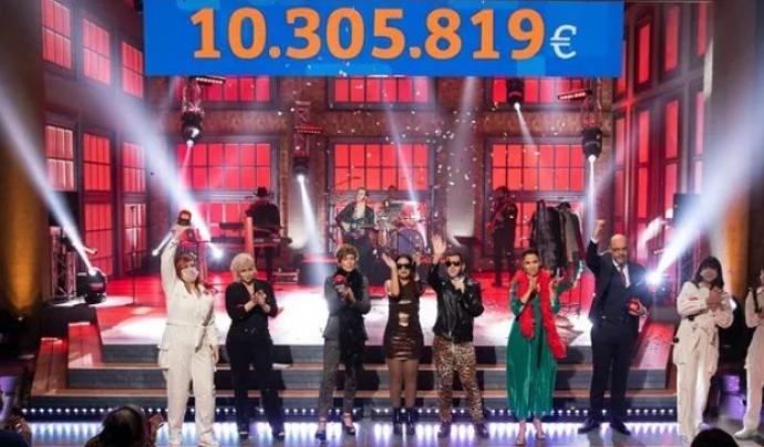 En l'edició anterior, la Marató de TV3 va recaptar 10.305.819 euros per lluitar contra la Covid-19. Font: Arxiu Xarxanet