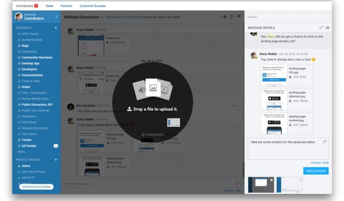 Mitjançant Mattermost podreu treballar directament i guardar-hi documents.