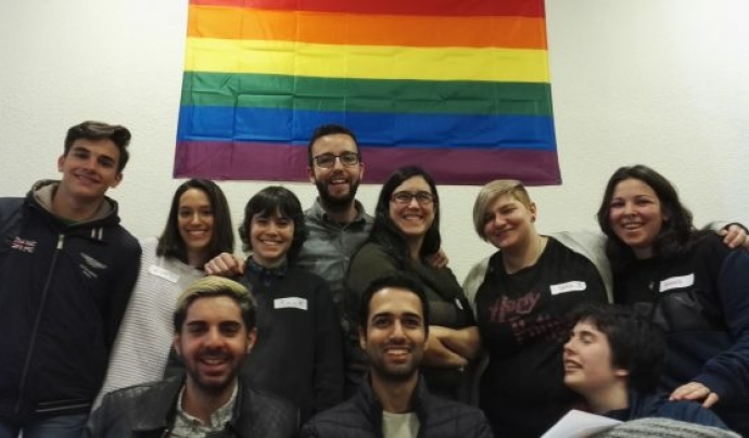 Membres de Colega-Madrid, amb Javier Navarro dret, al mig