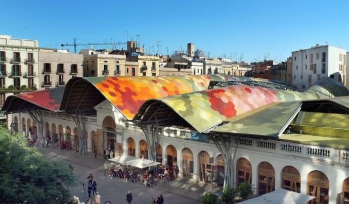 El voltants del Mercat de Santa Caterina seran l'escenari d'aquesta acció artística comunitària Font: Ajuntament de Barcelona