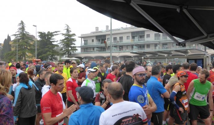 Imatge de la sortida de la 5a edició de la cursa de les Gavarres d'Astrid21 Font: Miquel Bataller - Astrid 21