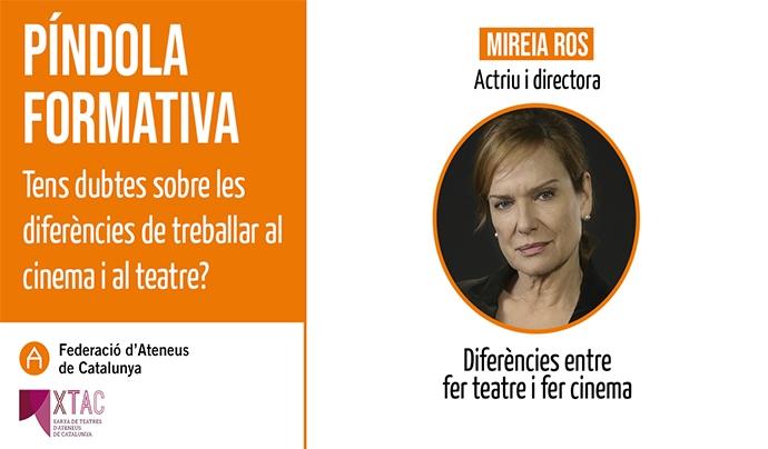 Mireia Ros FAC Font: Federació d'Ateneus de Catalunya