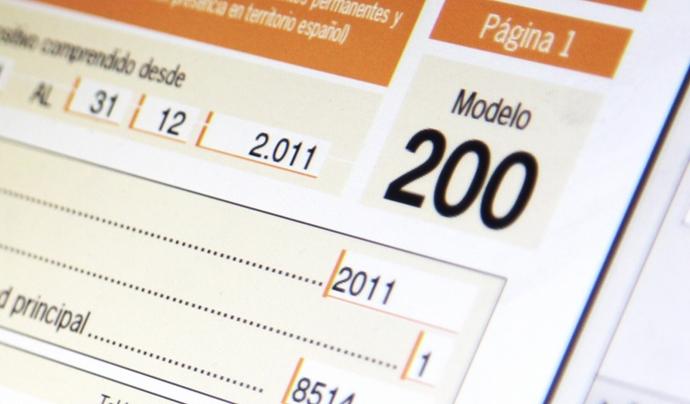 El model 200 és amb el qual es declara l'Impost de Societats. Font: Microdata. Font: Microdata