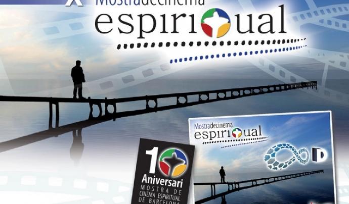Cartell edició X Mostra de Cinema Espiritual (Lluïsos d'Horta).
