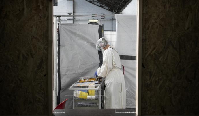 Metges Sense Fronteres desenvolupa un projecte a Brusseles per atendre persones sense sostre i migrades amb símptomes de covid19 Font: Albert Masias/MSF