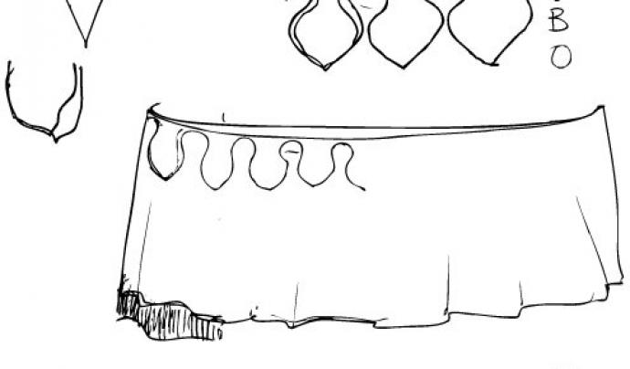 Pau Fernàndez ha dibuixat l'esbós inicial del vestuari de la nova Mulassa.