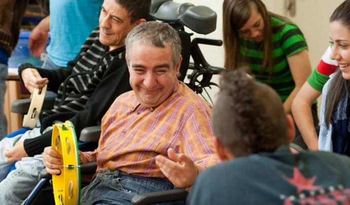 El 'Projecte Enllaç' de la Fundació Orfeó Lleidatà permet que les persones amb discapacitat participin a la vida cultural.  Font: Fundació Orfeó Lleidatà