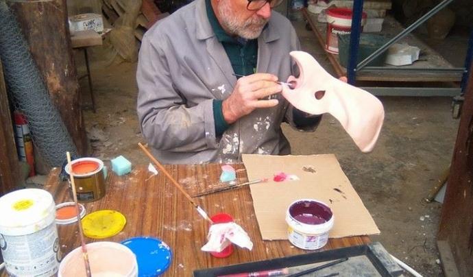 Lluís Musté, constructor d'imatgeria festiva.