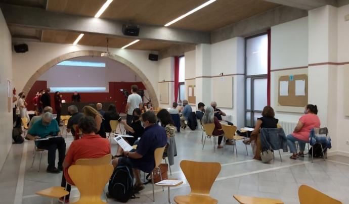 Primera sessió per definir les línies estratègiques i objectius específics del Pla de Transició Ecosocial. Font: Twitter: @somnatus