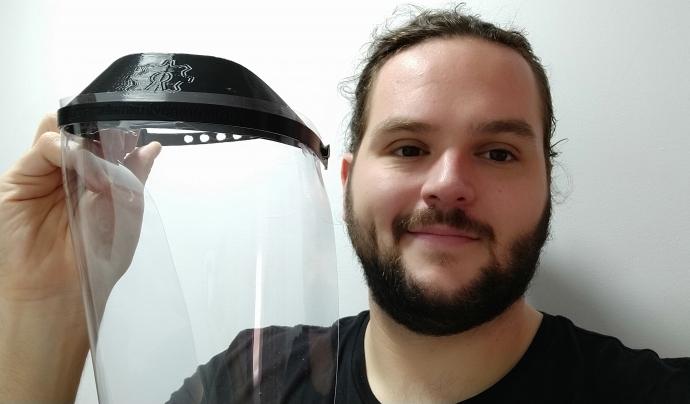 Néstor Aparicio és membre de l'Associació Tangencial i forma part de la delegació catalana de Coronavirus Maker Font: Néstor Aparicio