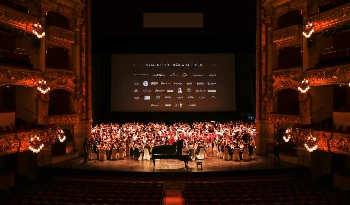 El sopar se celebrarà sobre l'escenari del Gran Teatre del Liceu. Font: Casal dels Infants