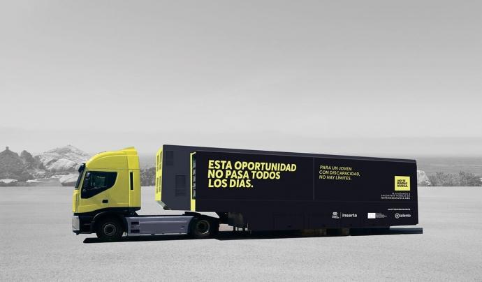 Camió de 'No te rindas nunca' en ruta