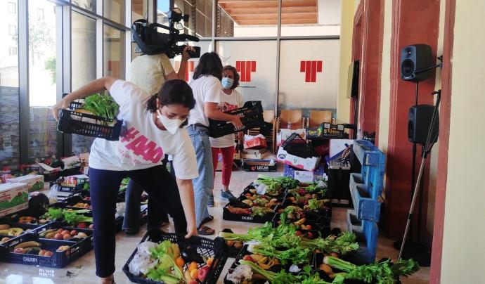 Les actrius Nora Navas i Clara Segura han participat com a voluntàries. Font: #AAA