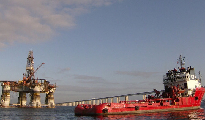 L'Ocean Viking es troba realitzant operacions de salvament al Mediterrani central. Font: Volfegan