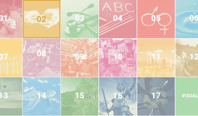 A ODS.cat podeu trobar informació sobre els 17 objectius de Desenvolupament Sostenible Font: ODS.cat