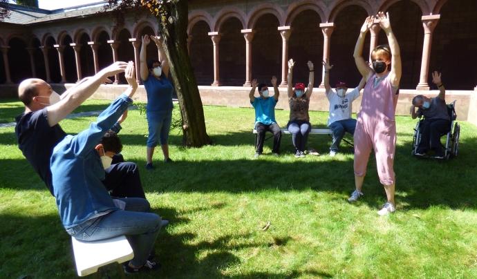 Taller de fisioteràpia al claustre modern de La Seu d'Urgell. Font: Paula Gil