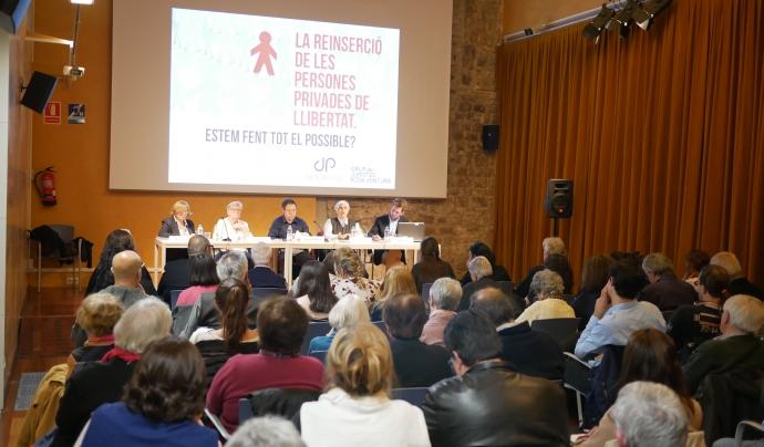 """Conferència """"La reinserció de les persones privades de llibertat"""" organitzada per Justícia i Pau Font: Justícia i Pau"""
