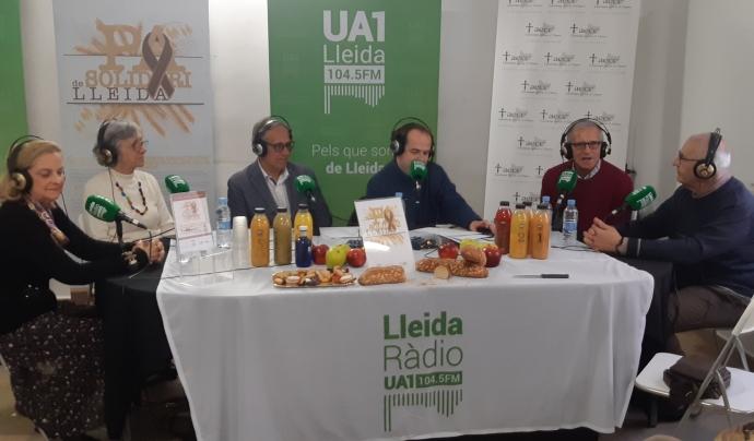 Programa d'UA1 Lleida Ràdio a la seu d'AECC Lleida. Font: Ivan Usón