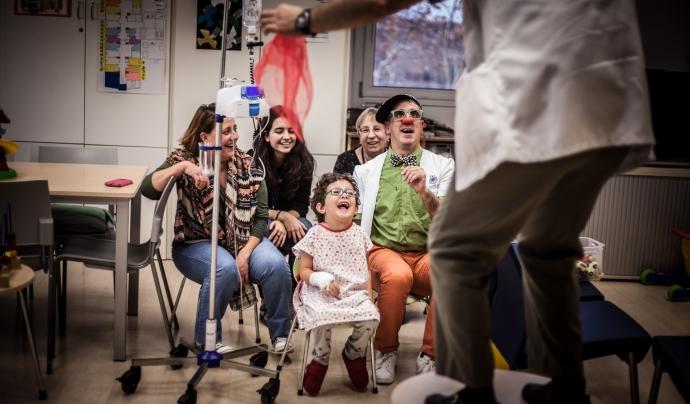Durant el confinament, l'entitat portava els riures als hospitals a través de vídeos. Font: Pallapupas. Font: Durant el confinament, l'entitat portava els riures als hospitals a través de vídeos. Font: Pallapupas.