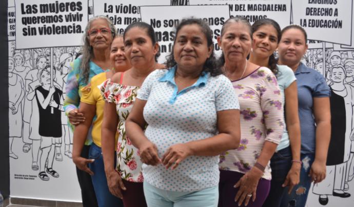 Col·lectius catalans donen suport als grups de dones colombianes que lluiten pels seus drets. Font: Plataforma Unitària contra les Violències de Gènere