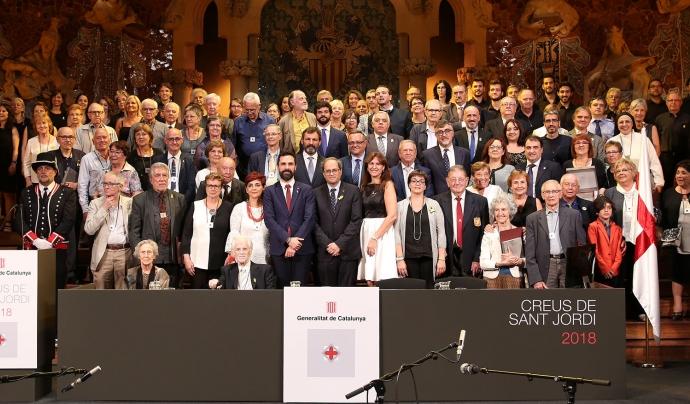 Personalitats i entitats guardonades amb la Creu de Sant Jordi 2018 Font: Generalitat de Catalunya
