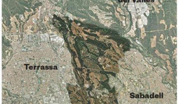 """Una sector considerat com una """"joia del Vallès"""", entre 5 municipis (imatge: adenc.cat)"""
