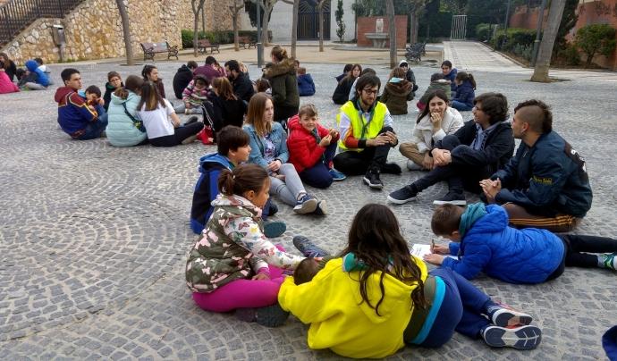 Sessió de treball del LAB de participació infantil i juvenil amb els infants i joves Font: Minyons Escoltes i Guies de Catalunya